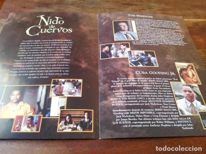 Cine: Nido de cuervos - Cuba Gooding Jr., Tom Berenger - guia original tripictures año 1999 - Foto 2 - 220606165