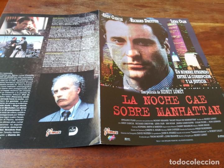 LA NOCHE CAE SOBRE MANHATTAN - ANDY GARCÍA,RICHARD DREYFUSS,LENA OLIN GUIA ORIGINAL FILMAX AÑO 1996 (Cine - Guías Publicitarias de Películas )