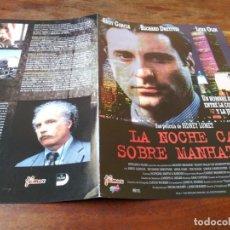 Cine: LA NOCHE CAE SOBRE MANHATTAN - ANDY GARCÍA,RICHARD DREYFUSS,LENA OLIN GUIA ORIGINAL FILMAX AÑO 1996. Lote 220606457