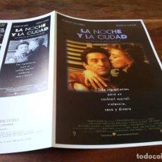 Cine: LA NOCHE Y LA CIUDAD - ROBERT DE NIRO, JESSICA LANGE, ELI WALLACH - GUIA ORIGINAL U.I.P AÑO 1992. Lote 220606875