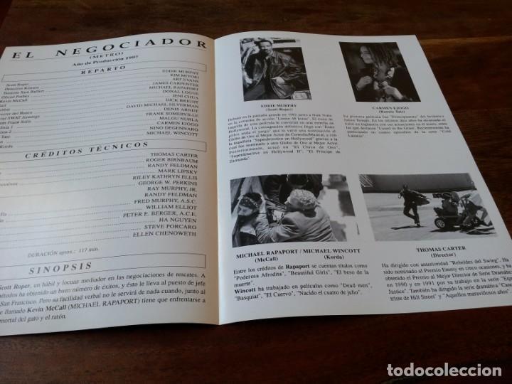 Cine: El negociador - Eddie Murphy, Michael Rapaport, Carmen Ejogo - guia original buenavista año 1997 - Foto 2 - 220607116