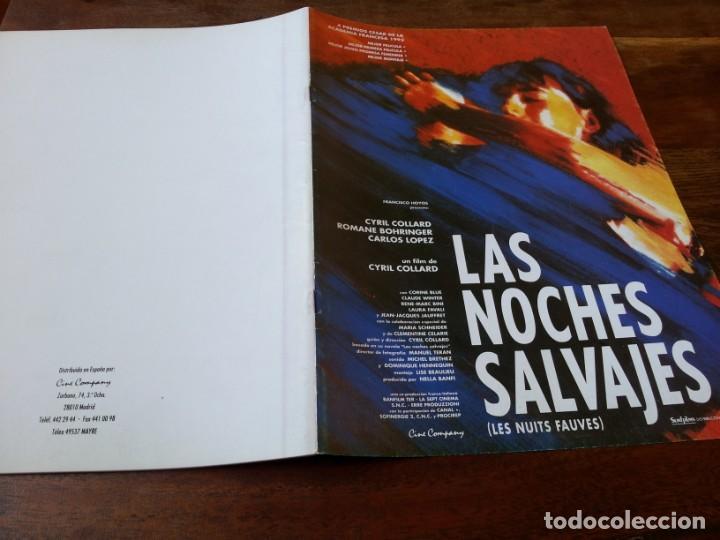 LAS NOCHES SALVAJES - CYRIL COLLARD, ROMANE BOHRINGER - GUIA ORIGINAL SURF FILMS AÑO 1992 (Cine - Guías Publicitarias de Películas )