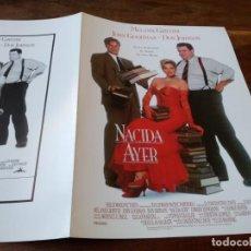 Cine: NACIDA AYER - MELANIE GRIFFITH, DON JOHNSON, JOHN GOODMAN - GUIA ORIGINAL CB FILMS AÑO 1993. Lote 220607592