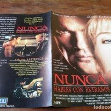 Cine: NUNCA HABLES CON EXTRAÑOS - REBECCA DE MORNAY, ANTONIO BANDERAS - GUIA ORIGINAL TRIPICTURES AÑO 1995. Lote 220607815