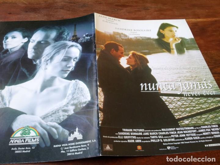 NUNCA JAMÁS - SANDRINE BONNAIRE, JANE MARCH, JAMES FOX - GUIA ORIGINAL DE LUJO ARABA AÑO 1997 (Cine - Guías Publicitarias de Películas )