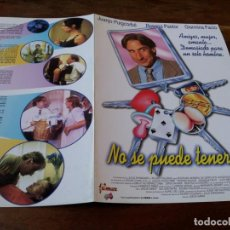 Cine: NO SE PUEDE TENER TODO - JUANJO PUIGCORBÉ,ROSANA PASTOR,GIANNINA FACIO - GUIA ORIGINAL FILMAX 1997. Lote 220608700