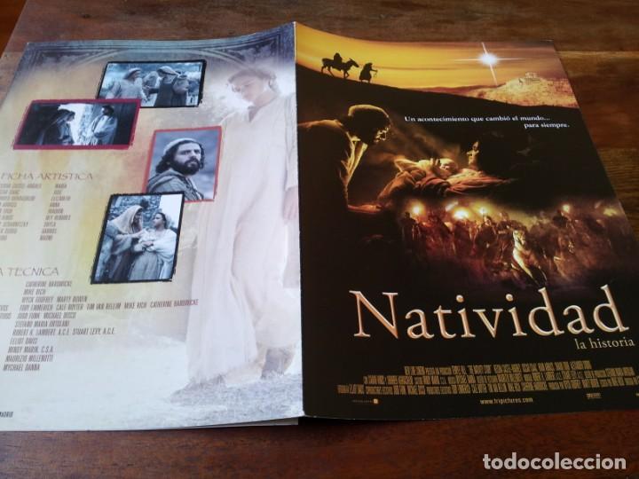 NATIVIDAD - KEISHA CASTLE-HUGHES, OSCAR ISAAC, SHOHREH AGHDASHL - GUIA ORIGINAL TRIPICTURES AÑO 2006 (Cine - Guías Publicitarias de Películas )