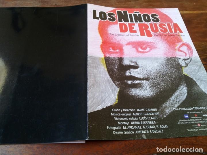 LOS NIÑOS DE RUSIA - JAIME CAMINO - DOCUMENTAL - GUIA ORIGINAL WANDA AÑO 2001 (Cine - Guías Publicitarias de Películas )