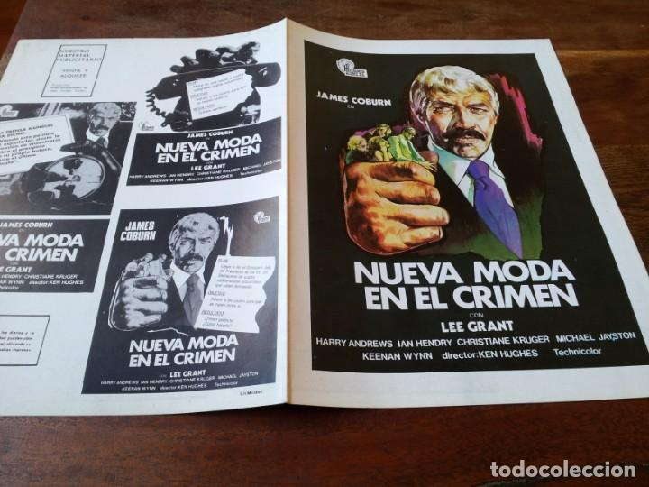 NUEVA MODA EN EL CRIMEN - JAMES COBURN, LEE GRANT, IAN HENDRY - GUIA ORIGINAL HISPAMEX AÑO 1974 (Cine - Guías Publicitarias de Películas )
