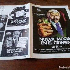 Cine: NUEVA MODA EN EL CRIMEN - JAMES COBURN, LEE GRANT, IAN HENDRY - GUIA ORIGINAL HISPAMEX AÑO 1974. Lote 220609631