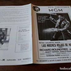 Cine: LAS NOCHES ROJAS DE HARLEM - RICHARD ROUNDTREE, MOSES GUNN - GUIA ORIGINAL M.G.M AÑO 1972. Lote 220610390