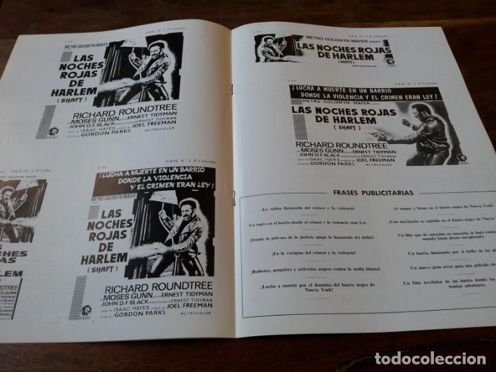 Cine: Las noches rojas de Harlem - Richard Roundtree, Moses Gunn - guia original m.g.m año 1972 - Foto 3 - 220610390