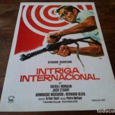 Cine: INTRIGA INTERNACIONAL - RICHARD HARRISON, SHERILL MORGAN - GUIA ORIGINAL VIÑALS AÑO 1974 JANO. Lote 220880602