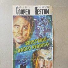 Cine: MISTERIO EN EL BARCO PERDIDO. GARY COOPER, CHARLTON HESTON - GUIA ORIGINAL.. Lote 221126552
