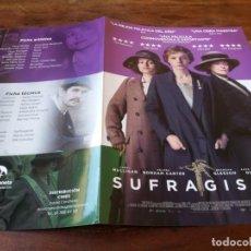 Cinéma: SUFRAGISTAS - CAREY MULLIGAN, HELENA BONHAM CARTER, MERYL STREEP - GUIA ORIGINAL DEAPLANETA AÑO 2015. Lote 221132952