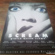 Cine: SCREAM VIGILA QUIÉN LLAMA - NEVE CAMPBELL, DAVID ARQUETTE, COURTENEY COX - GUIA ORIGINAL LAUREN 1996. Lote 221694707