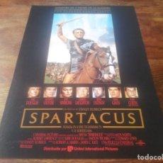 Cine: SPARTACUS - KIRK DOUGLAS, TONY CURTIS, LAURENCE OLIVIER, PETER USTINOV - GUIA ORIGINAL U.I.P 1991. Lote 221713365