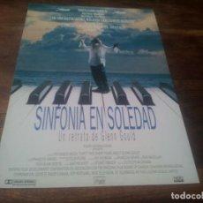 Cine: SINFONÍA EN SOLEDAD - COLM FEORE,GALE GARNER,KATYA LADAN,FRANÇOIS GIRARD - GUIA ORIGINAL VHERO 1993. Lote 221718947