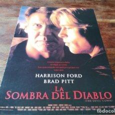 Cine: LA SOMBRA DEL DIABLO - HARRISON FORD, BRAD PITT, MARGARET COLIN - GUIA ORIGINAL COLUMBIA 1997. Lote 221768470