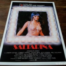 Cinéma: SALTARINA - JACQUELINE BISSET, JIM BROWN, JOSEPH COTTEN, CORBETT MONICA - GUIA ORIGINAL WARNER 1982. Lote 221774322