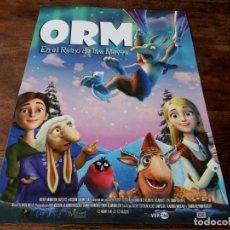 Cine: ORM EN EL REINO DE LAS NIEVES - ANIMACION - GUIA ORIGINAL VERCINE 2014. Lote 221936133