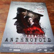 Cine: OPERACIÓN ANTHROPOID - CILLIAN MURPHY, JAMIE DORNAN, CHARLOTTE LE BON - GUIA ORIGINAL ALFA 2016. Lote 221938643