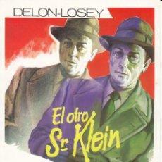 Cine: EL OTRO SR KLEIN / ALAIN DELON - 1977. Lote 221939307