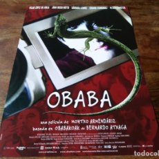 Cine: OBABA - BÁRBARA LENNIE, JUAN DIEGO BOTTO, PILAR LÓPEZ DE AYALA - GUIA ORIGINAL ALTA 2005. Lote 221939666