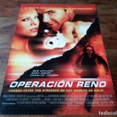 Cine: OPERACIÓN RENO - BEN AFFLECK, CHARLIZE THERON, GARY SINISE, DANNY TREJO - GUIA ORIGINAL LAUREN 2000. Lote 221940127