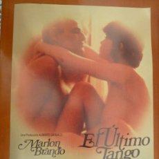 Cine: EL ULTIMO TANGO EN PARIS MARLON BRANDO GUIA PUBLICITARIA ORIGINAL REPOSICION. Lote 222084155