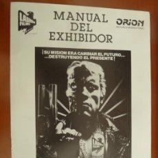 Cine: TERMINATOR SCHWARZENEGGER JAMES CAMERON GUIA PUBLICITARIA ORIGINAL ESTRENO. Lote 222084302
