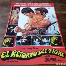Cine: EL RETORNO DEL TIGRE - BRUCE LI, PAUL SMITH, JIMMY SHAW - GUIA ORIGINAL LAUREN 1978. Lote 257739495