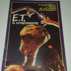 Cine: E.T. EL EXTRATERRESTRE - DOSSIER GRAFICO Y LITERARIO. Lote 222328296