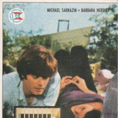 Cinema: BUSCANDO LA FELICIDAD / MICHAEL SARRACIN - BARBARA HERSHEY - 1971. Lote 222636657
