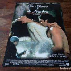 Cine: DE AMOR Y DE SOMBRA - ANTONIO BANDERAS, JENNIFER CONNELLY - GUIA ORIGINAL WARNER 1994. Lote 222644472