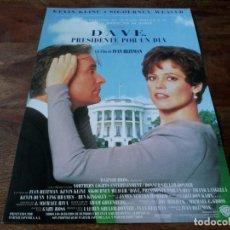 Cine: DAVE, PRESIDENTE POR UN DÍA - KEVIN KLINE, SIGOURNEY WEAVER,BEN KINGSLEY - GUIA ORIGINAL WARNER 1993. Lote 222644695