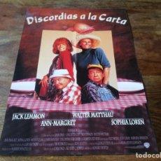 Cine: DISCORDIAS A LA CARTA - JACK LEMMON, WALTER MATTHAU, SOPHIA LOREN - GUIA ORIGINAL WARNER 1995. Lote 222644928