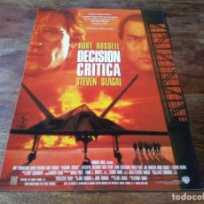 Cine: DECISIÓN CRÍTICA - KURT RUSSELL, STEVEN SEAGAL, HALLE BERRY,OLIVER PRATT - GUIA ORIGINAL WARNER 1996. Lote 222645568