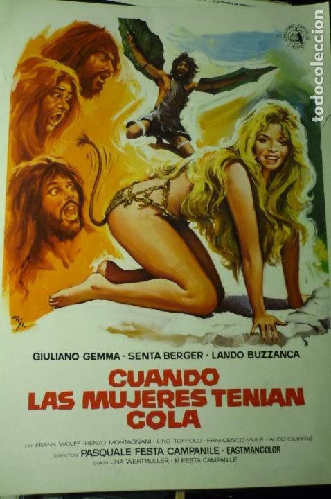 GUIA CUANDO LAS MUJERES TENIAN COLA - SENTA BERGER (Cine - Guías Publicitarias de Películas )