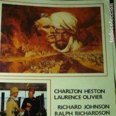 Cine: GUIA KARTUM .-CHARLTON HESTON. Lote 222850245