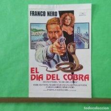 Cine: GUIA DE CINE - EL DIA DE LA COBRA - FRANCO NERO - 2 PAGINAS - L 12. Lote 222921148