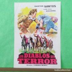 Cine: GUIA DE CINE - LOS DIABLOS DEL TERROR - GASTON SANTOS - 2 PAGINAS - BUENO - L 12. Lote 222922580
