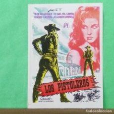 Cine: GUIA DE CINE - LOS PISTOLEROS - 1962 - TERE VELAZQUEZ- 2 PAGINAS - EXCELENTE - L 12. Lote 222928216