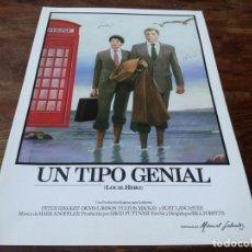Cine: UN TIPO GENIAL LOCAL HERO - BURT LANCASTER, PETER RIEGERT, DENIS LAWSON - GUIA ORIGINAL INCINE 1983. Lote 223252871