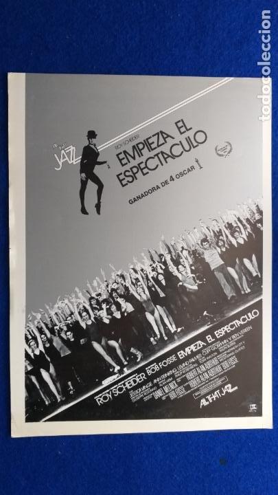 GUIA PUBLICITARIA: EMPIEZA EL ESPECTACULO, ALL THAT JAZZ. ROY SCHEIDER, BOB FOSSE. (Cine - Guías Publicitarias de Películas )