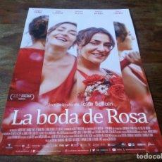 Cinema: LA BODA DE ROSA - CANDELA PEÑA, SERGI LÓPEZ, NATHALIE POZA,ICIAR BOLLAIN - GUIA ORIGINAL FILMAX 2020. Lote 223978666