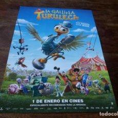 Cinema: LA GALLINA TURULECA - ANIMACION - - GUIA ORIGINAL FILMAX 2020. Lote 223985047