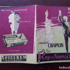 Cine: UN REY EN NUEVA YORK, CHARLES CHAPLIN. Lote 224047186