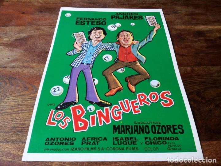 LOS BINGUEROS - FERNANDO ESTESO, ANDRÉS PAJARES, AFRICA PRATT - GUIA ORIGINAL IZARO 1979 JANO (Cine - Guías Publicitarias de Películas )