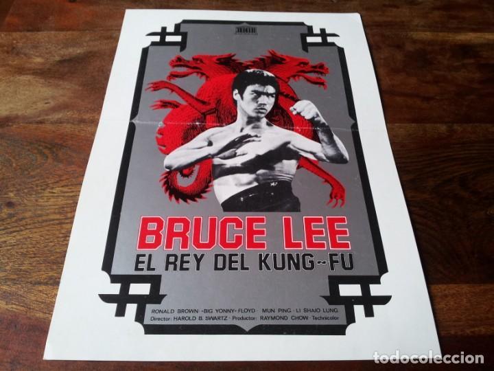 BRUCE LEE, EL REY DEL KUNG FU - CHEN PEI-LING, SHAN MAO, TSAI HUNG - GUIA ORIGINAL MERCURIO 1976 (Cine - Guías Publicitarias de Películas )